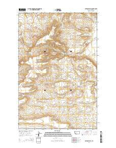 Sevenmile Hill Montana Current topographic map, 1:24000 scale, 7.5 X 7.5 Minute, Year 2014