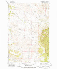 Seventytwo Hills Montana Historical topographic map, 1:24000 scale, 7.5 X 7.5 Minute, Year 1978