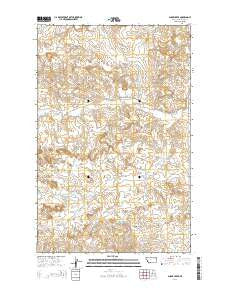Shade Creek Montana Current topographic map, 1:24000 scale, 7.5 X 7.5 Minute, Year 2014