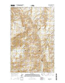 Shambo NE Montana Current topographic map, 1:24000 scale, 7.5 X 7.5 Minute, Year 2014
