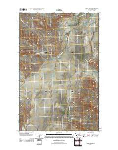 Sheep Coulee Montana Historical topographic map, 1:24000 scale, 7.5 X 7.5 Minute, Year 2011