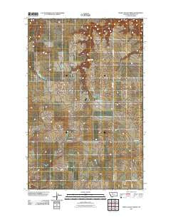 Sheep Coulee Spring Montana Historical topographic map, 1:24000 scale, 7.5 X 7.5 Minute, Year 2011