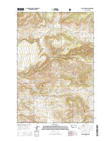 Sheep Mountain Montana Current topographic map, 1:24000 scale, 7.5 X 7.5 Minute, Year 2014