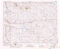 Shelby Montana Historical topographic map, 1:250000 scale, 1 X 2 Degree, Year 1954