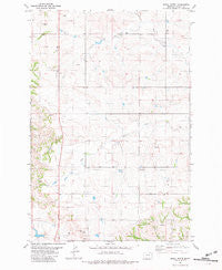 Shell Butte Montana Historical topographic map, 1:24000 scale, 7.5 X 7.5 Minute, Year 1981