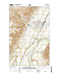 Sidney Montana Current topographic map, 1:24000 scale, 7.5 X 7.5 Minute, Year 2014