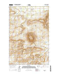 Simms Montana Current topographic map, 1:24000 scale, 7.5 X 7.5 Minute, Year 2014