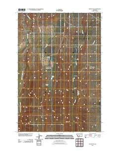 Sixteen NE Montana Historical topographic map, 1:24000 scale, 7.5 X 7.5 Minute, Year 2011