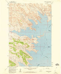 Skunk Coulee Montana Historical topographic map, 1:24000 scale, 7.5 X 7.5 Minute, Year 1958