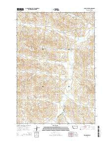 Skunk Creek Montana Current topographic map, 1:24000 scale, 7.5 X 7.5 Minute, Year 2014