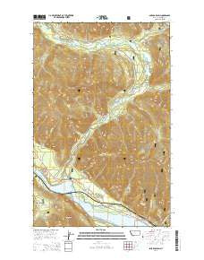 Smeads Bench Montana Current topographic map, 1:24000 scale, 7.5 X 7.5 Minute, Year 2014