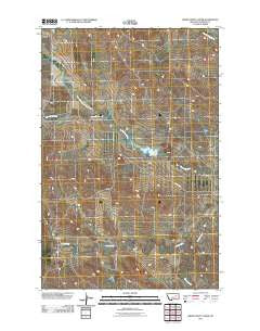 Smoky Butte Creek Montana Historical topographic map, 1:24000 scale, 7.5 X 7.5 Minute, Year 2011