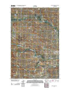 Snoose Creek Montana Historical topographic map, 1:24000 scale, 7.5 X 7.5 Minute, Year 2011