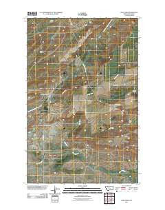 Soap Creek Montana Historical topographic map, 1:24000 scale, 7.5 X 7.5 Minute, Year 2011