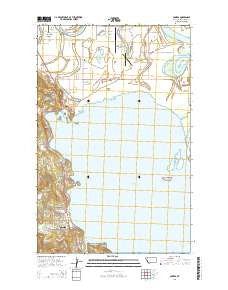 Somers Montana Current topographic map, 1:24000 scale, 7.5 X 7.5 Minute, Year 2014
