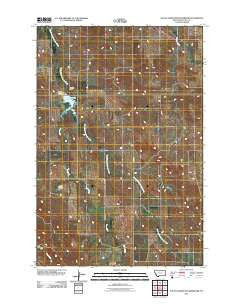 South Sandstone Reservoir Montana Historical topographic map, 1:24000 scale, 7.5 X 7.5 Minute, Year 2011