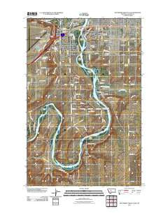 Southwest Great Falls Montana Historical topographic map, 1:24000 scale, 7.5 X 7.5 Minute, Year 2011