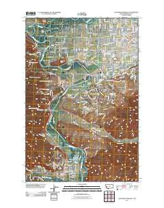 Southwest Missoula Montana Historical topographic map, 1:24000 scale, 7.5 X 7.5 Minute, Year 2011