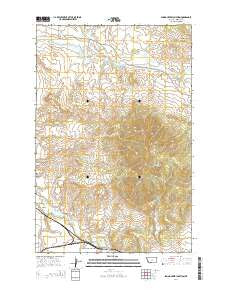 Spring Creek Junction Montana Current topographic map, 1:24000 scale, 7.5 X 7.5 Minute, Year 2014