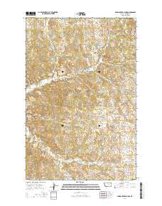 Spring Creek School Montana Current topographic map, 1:24000 scale, 7.5 X 7.5 Minute, Year 2014