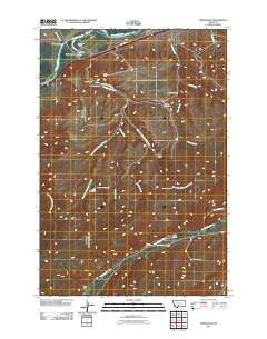 Springdale Montana Historical topographic map, 1:24000 scale, 7.5 X 7.5 Minute, Year 2011