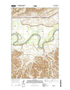 Sprole Montana Current topographic map, 1:24000 scale, 7.5 X 7.5 Minute, Year 2014
