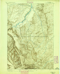 St. Xavier Montana Historical topographic map, 1:125000 scale, 30 X 30 Minute, Year 1894