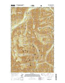 Stahl Peak Montana Current topographic map, 1:24000 scale, 7.5 X 7.5 Minute, Year 2014