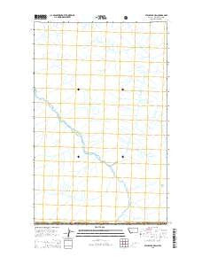 Stahl Peak OE N Montana Current topographic map, 1:24000 scale, 7.5 X 7.5 Minute, Year 2014