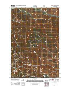 Stemple Pass Montana Historical topographic map, 1:24000 scale, 7.5 X 7.5 Minute, Year 2011