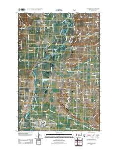 Stevensville Montana Historical topographic map, 1:24000 scale, 7.5 X 7.5 Minute, Year 2011