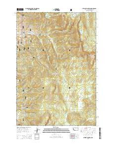 Stewart Mountain Montana Current topographic map, 1:24000 scale, 7.5 X 7.5 Minute, Year 2014