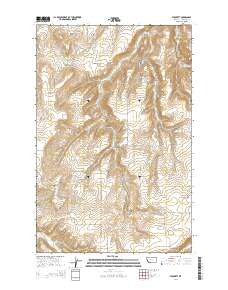 Stockett Montana Current topographic map, 1:24000 scale, 7.5 X 7.5 Minute, Year 2014