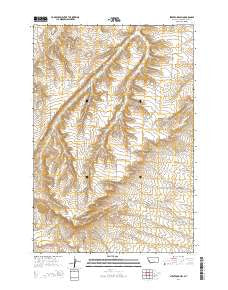 Stratford Hill Montana Current topographic map, 1:24000 scale, 7.5 X 7.5 Minute, Year 2014