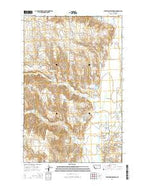 Stratton Reservoir Montana Current topographic map, 1:24000 scale, 7.5 X 7.5 Minute, Year 2014 from Montana Map Store