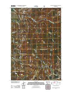 Sugarloaf Mountain Montana Historical topographic map, 1:24000 scale, 7.5 X 7.5 Minute, Year 2011
