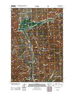Sula Montana Historical topographic map, 1:24000 scale, 7.5 X 7.5 Minute, Year 2011