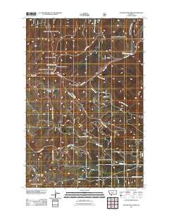Sulphur Bar Creek Montana Historical topographic map, 1:24000 scale, 7.5 X 7.5 Minute, Year 2011