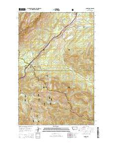 Summit Montana Current topographic map, 1:24000 scale, 7.5 X 7.5 Minute, Year 2014