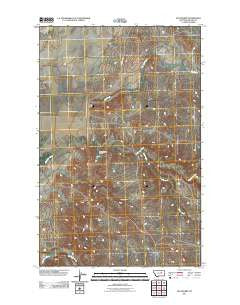Sun Prairie Montana Historical topographic map, 1:24000 scale, 7.5 X 7.5 Minute, Year 2011