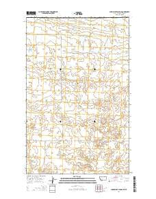 Sunny Slope School Montana Current topographic map, 1:24000 scale, 7.5 X 7.5 Minute, Year 2014