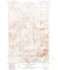 Sunnyhill School Montana Historical topographic map, 1:24000 scale, 7.5 X 7.5 Minute, Year 1988
