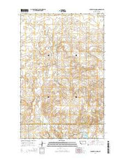 Sunnyhill School Montana Current topographic map, 1:24000 scale, 7.5 X 7.5 Minute, Year 2014 from Montana Maps Store