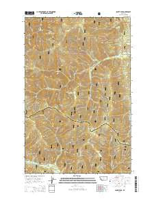 Sunset Peak Montana Current topographic map, 1:24000 scale, 7.5 X 7.5 Minute, Year 2014