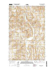Tadpole Lake Montana Current topographic map, 1:24000 scale, 7.5 X 7.5 Minute, Year 2014