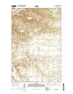 Taffy Ridge Montana Current topographic map, 1:24000 scale, 7.5 X 7.5 Minute, Year 2014 from Montana Map Store