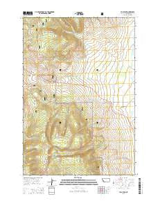 Tash Peak Montana Current topographic map, 1:24000 scale, 7.5 X 7.5 Minute, Year 2014