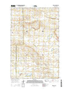 Teigen NW Montana Current topographic map, 1:24000 scale, 7.5 X 7.5 Minute, Year 2014 from Montana Map Store