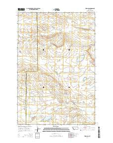 Teigen NW Montana Current topographic map, 1:24000 scale, 7.5 X 7.5 Minute, Year 2014