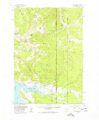 Tepee Creek Montana Historical topographic map, 1:62500 scale, 15 X 15 Minute, Year 1958